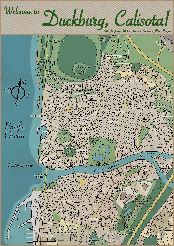 Duckburg Map